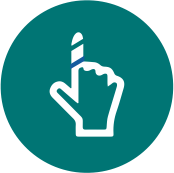 Fixação de curativos, inclusive em regiões de aplicação complicada, como cabeça e dedos.
