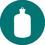 Fixação de talas e bolsas de água quente/fria.